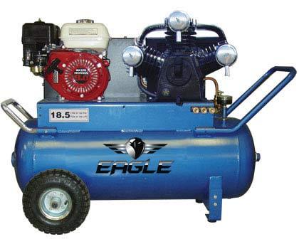 Eagle P90g25h1 Portable Gas Air Compressor The Lawnmower