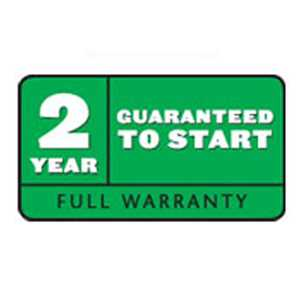 2-Year Guaranteed-to-Start Warranty